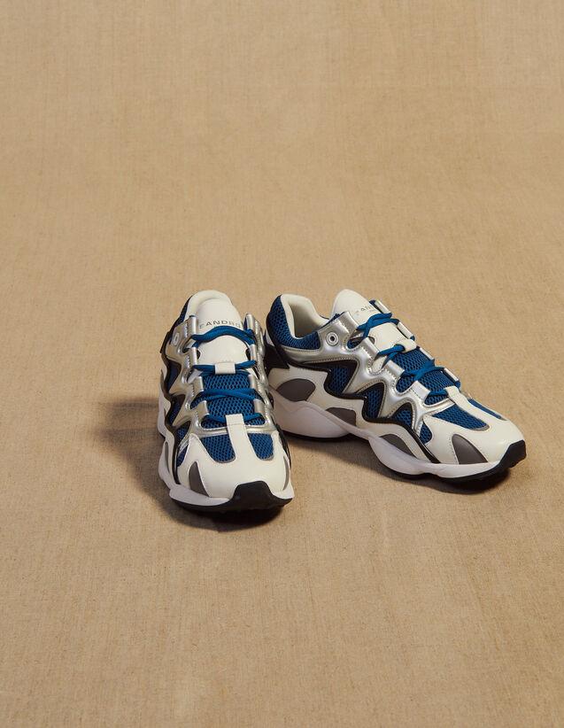 산드로 옴므 바스켓 러닝 어글리슈즈 - 블루 Sandro Basket running technique CH1785S,Bleu