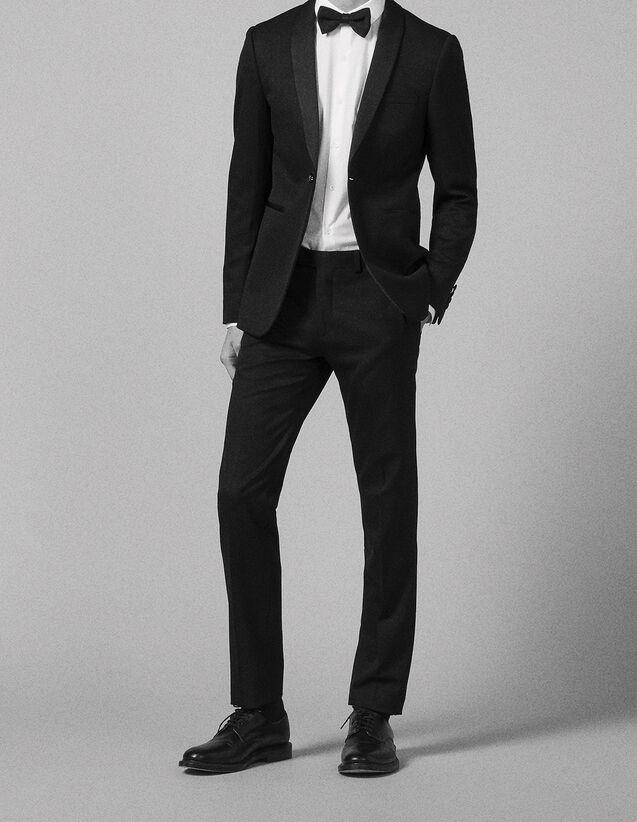 산드로 SANDRO Black Pantalon de smoking,Noir