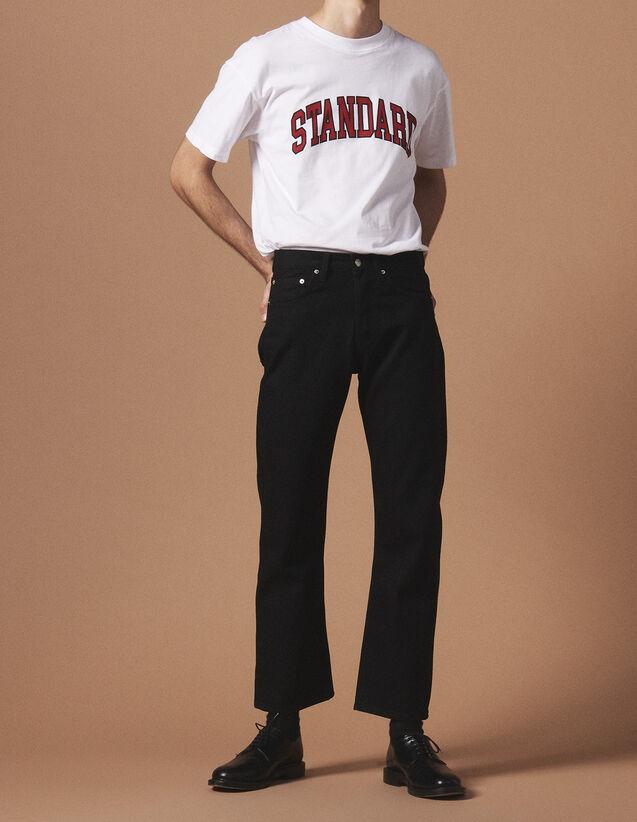 산드로 SANDRO Black Jean noir cinq poches,Noir