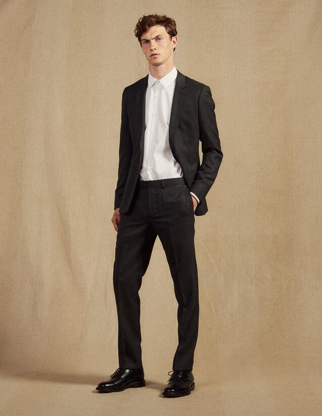 산드로 SANDRO Grey Pantalon de costume,Gris