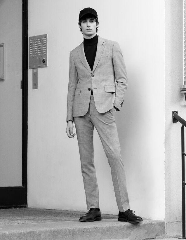 산드로 SANDRO Wales Pantalon de costume en prince de galles,BLANC/NOIR
