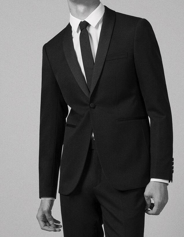 산드로 턱시도 자켓 SANDRO Black Veste de smoking,Noir