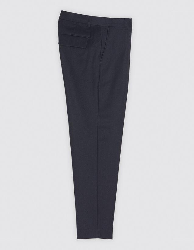 산드로 SANDRO Navy P Pantalon de costume,Marine