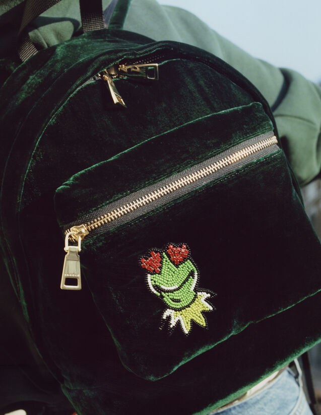 Sac A dos 산드로 Sandro X The Muppet Show 3607171390847 Sac A dos 산드로 Sandro X The Muppet Show,Vert Sapin