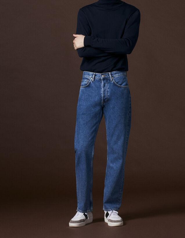 산드로 SANDRO Bluv Jean coupe droite,Blue Vintage - Denim