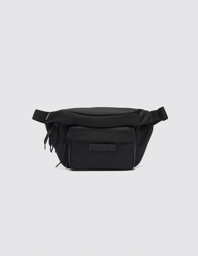 산드로 SANDRO Annypack Sac banane cross-body,Noir