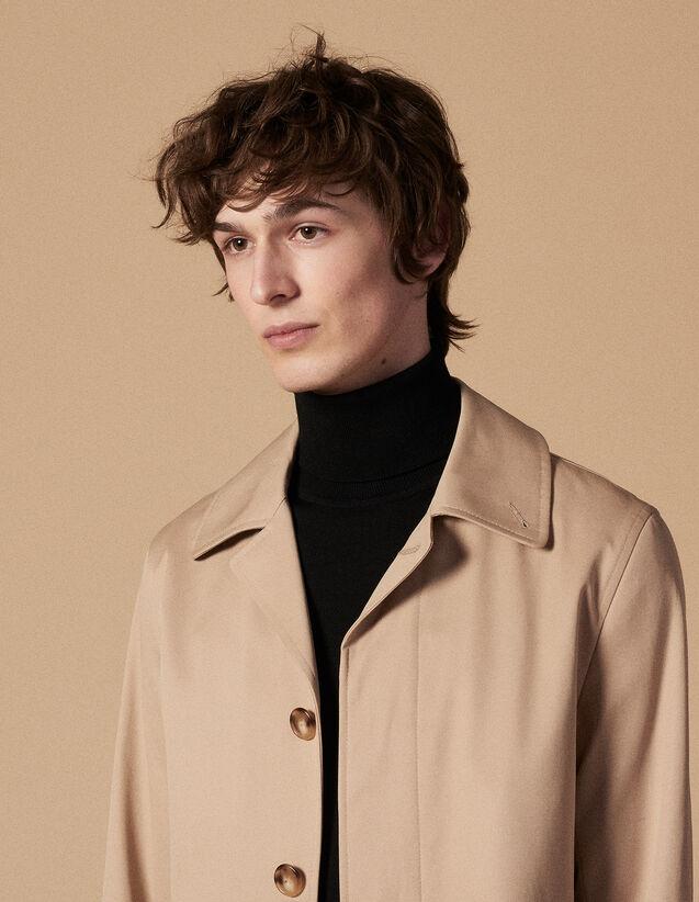 산드로 코트 SANDRO Mac Rain-coat en coton,Beige