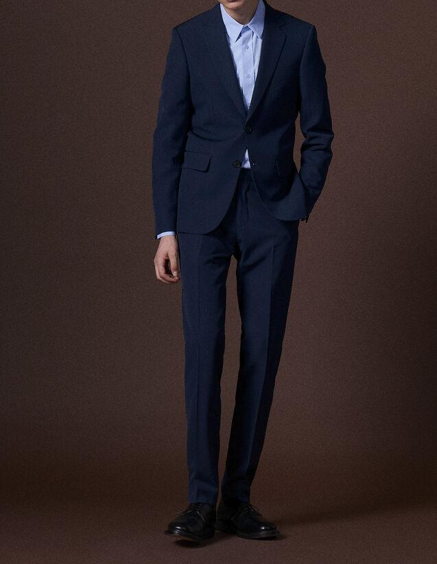 산드로 울 수트 자켓 SANDRO Blue Veste de costume en laine vierge,Bleu