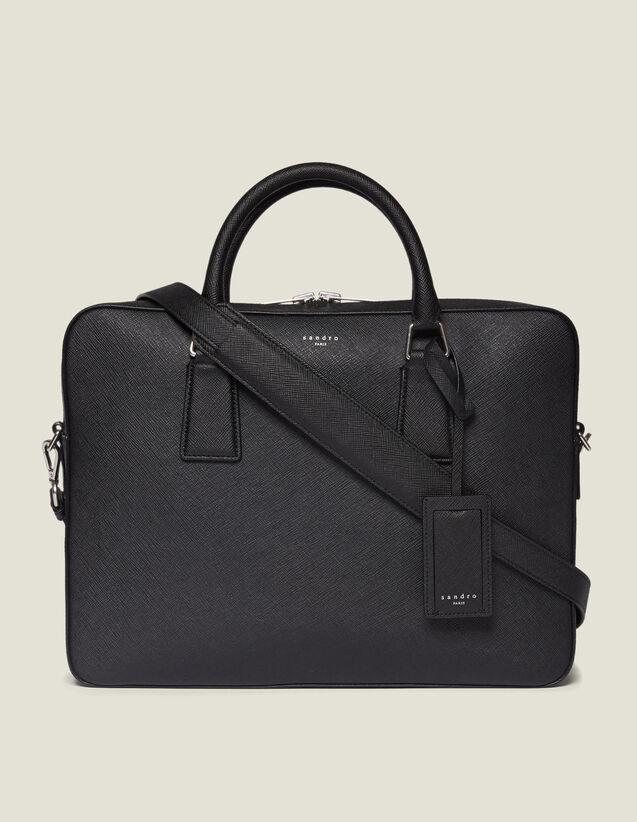 산드로 서류가방 Sandro Briefcase En Cuir Saffiano SHASA00285 Noir,Noir