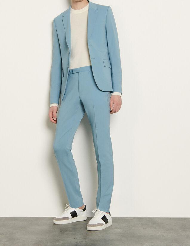 산드로 맨  바지 Sandro Pantalon de costume stretch SHPPA00403 Bleu Clair
