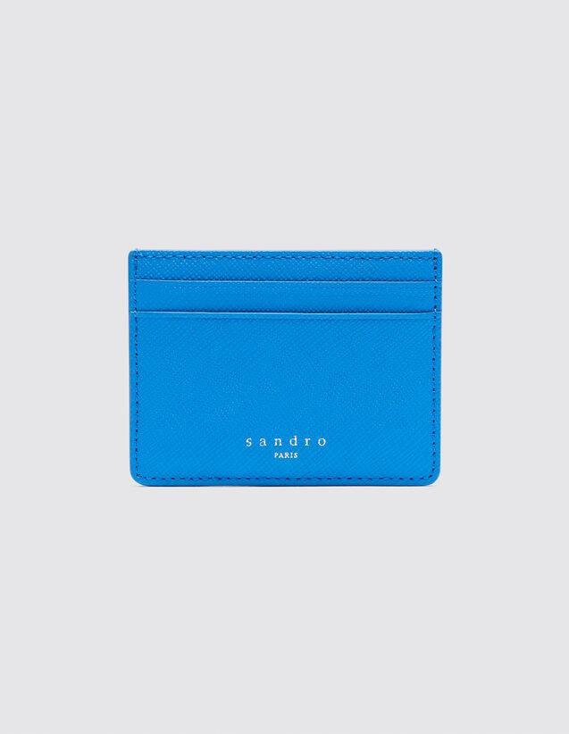 산드로 SANDRO Older Porte cartes en cuir,Bleu