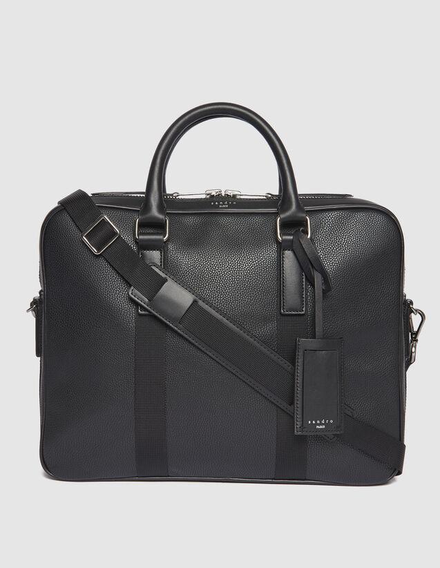 산드로 SANDRO Briefcase Small briefcase avec anses contrastees,Noir