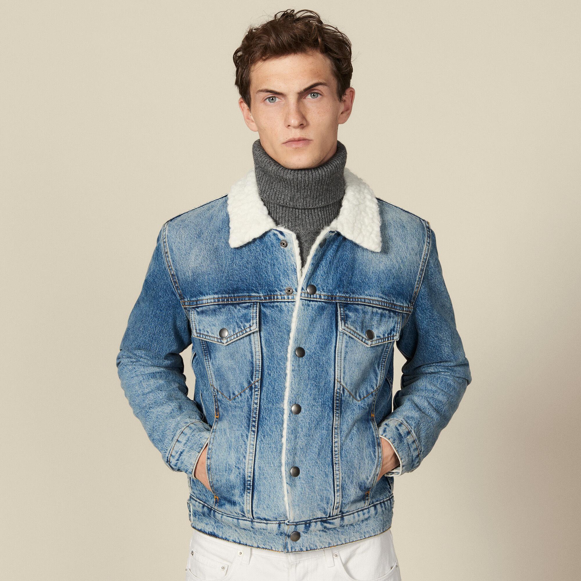 Veste en jean, intérieur faux mouton