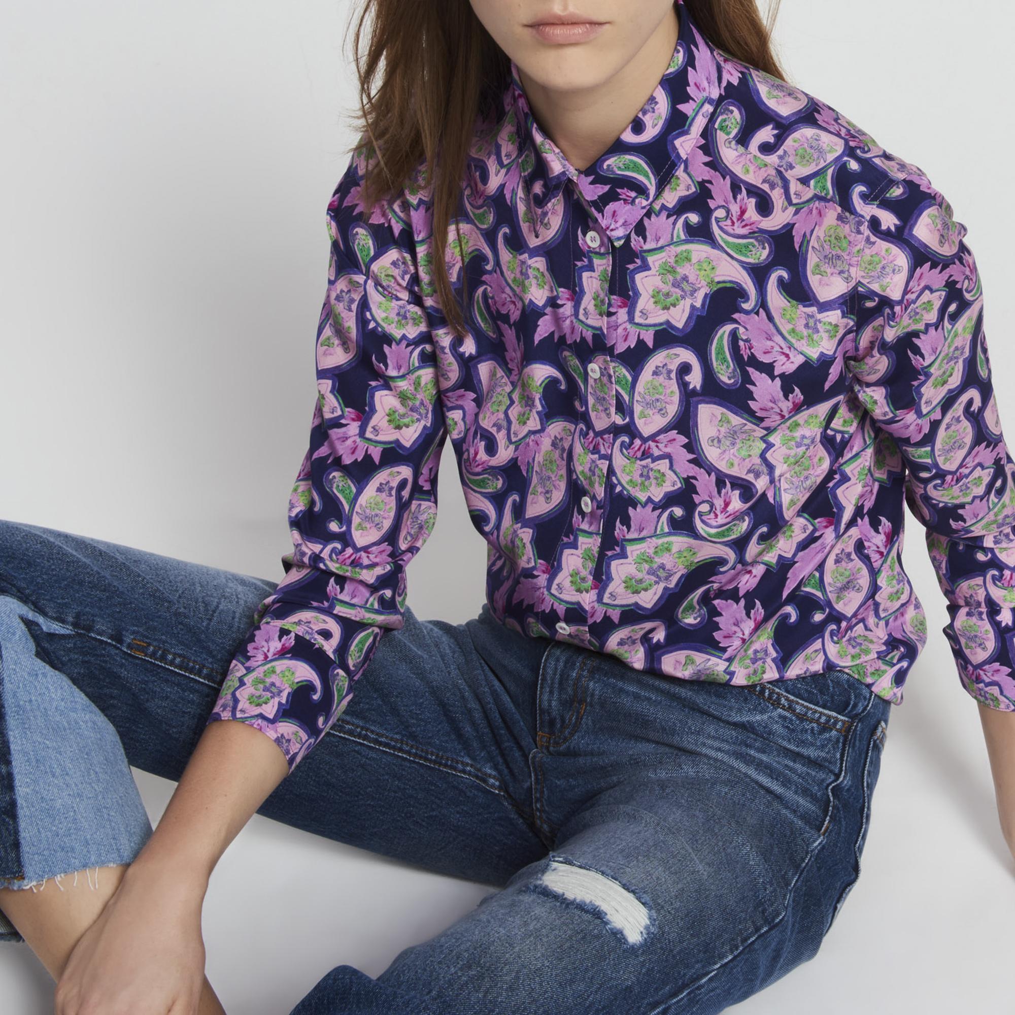 chemise-soie-imprimée