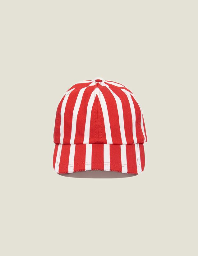 Casquette À Rayures Contrastantes : Casquettes couleur Rouge
