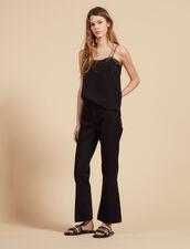 Jean Évasé : Jeans couleur Noir