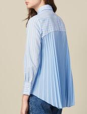 Chemise Asymétrique À Empiècement Plissé : Tops & Chemises couleur Ciel