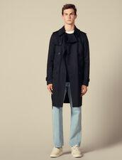 Trench-coat ceinturé : Trenchs & Manteaux couleur Beige