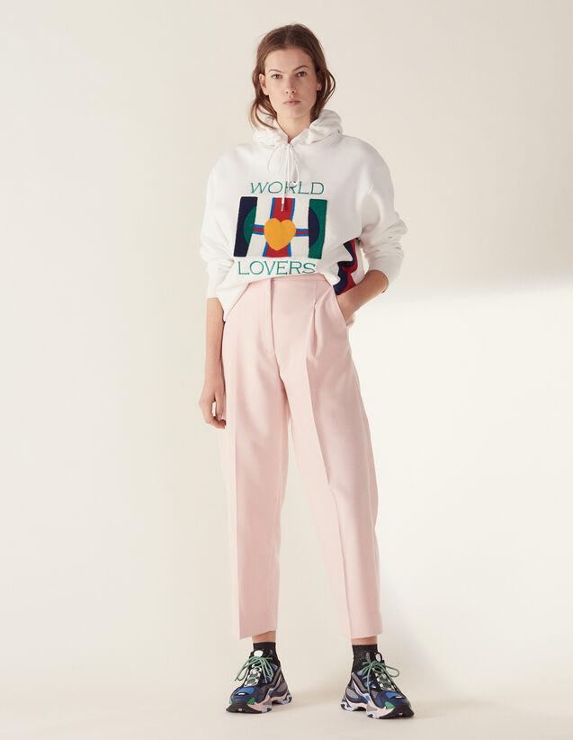 Pantalon De Tailleur 7/8ème Assorti : Pantalons couleur Rose
