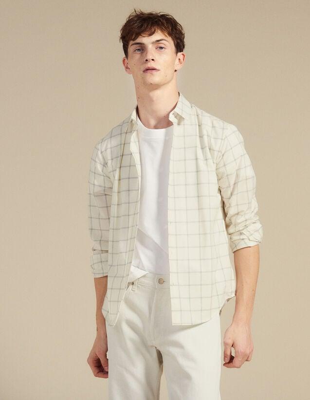 Chemise En Coton Fin : Chemises couleur Ecru