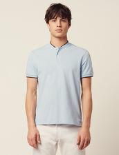 Polo Avec Détail Contrasté Au Col : T-shirts & Polos couleur Bleu Ciel