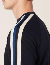 Sweat Orné De Galon Tricolore : Sweats couleur Marine