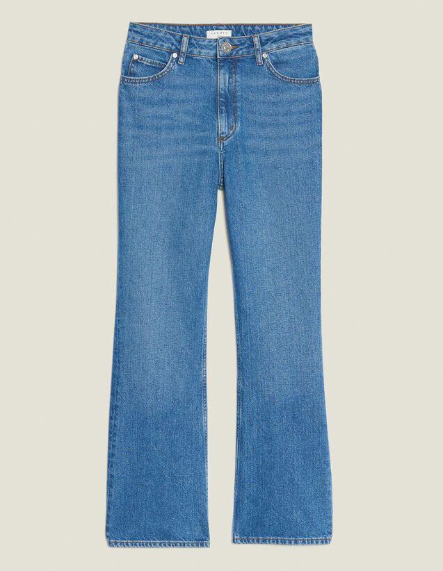 Jean Évasé : Jeans couleur Blue Vintage - Denim