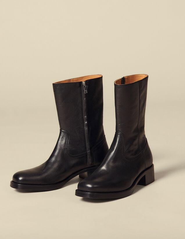 Boots hautes : Chaussures couleur Noir