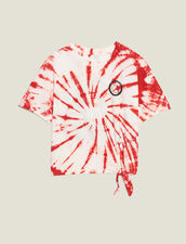 T-Shirt Tie And Dye : T-shirts couleur Rouge