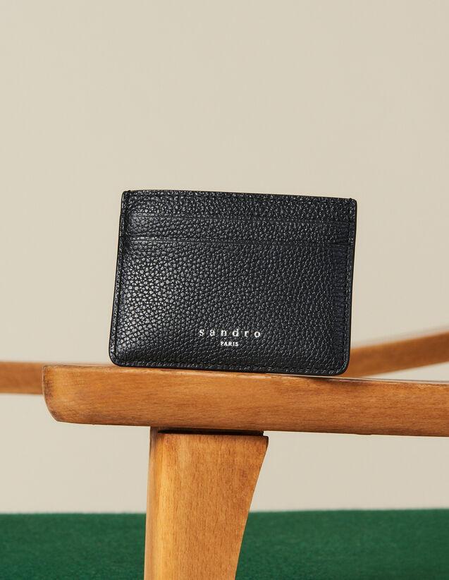 Porte cartes en cuir grainé : Toute la collection Hiver couleur Taupe