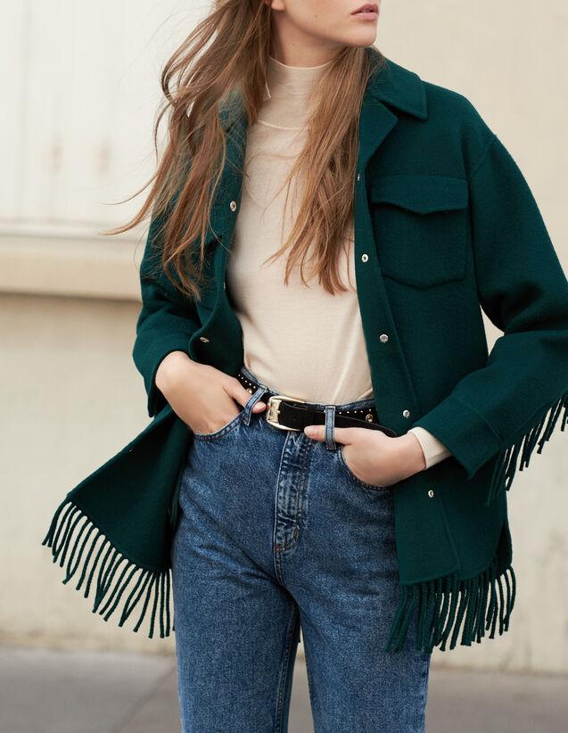 Veste chemise oversize : Blousons & Vestes couleur Rouge/Noir