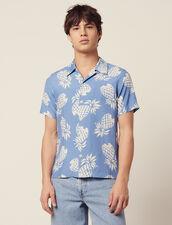 Chemise Imprimée Hawaïenne : Chemises couleur Noir