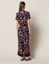 Combinaison Pantalon À Imprimé Fleuri : Combinaisons couleur Noir