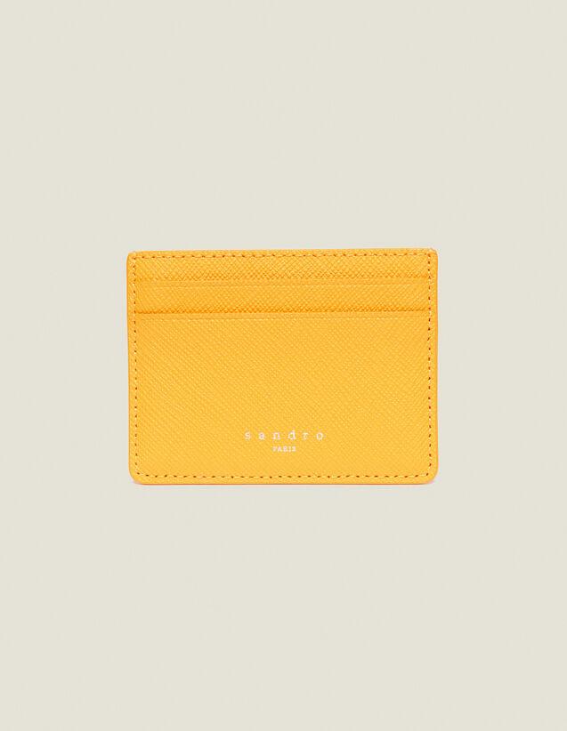 Porte Cartes En Cuir : Collection Été couleur Orange