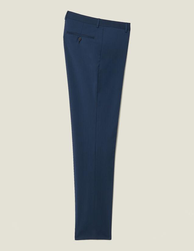 Pantalon De Costume Classique Super 110 : Nouvelle Collection couleur Pétrole