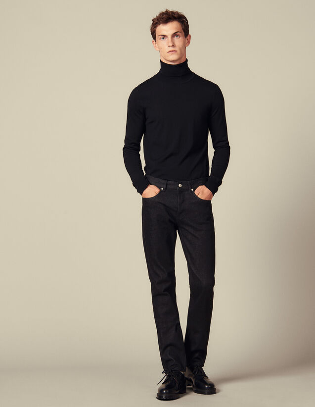 Jean Slim Brut : Jeans couleur Black - Denim