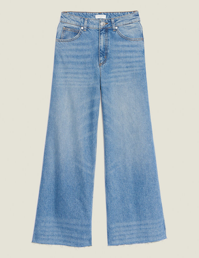 Jean Large : Jeans couleur Blue Vintage - Denim