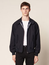 Blouson Style Harrington Over Size : Blousons & Vestes couleur Marine