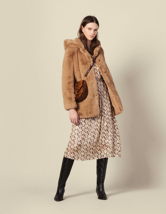 Manteau En Fausse Fourrure : Manteaux couleur Camel