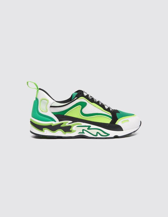 Baskets Flame : Toutes les Chaussures couleur Vert fluo