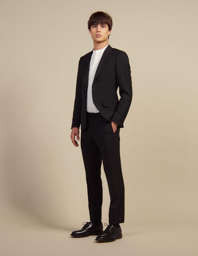 Pantalon De Costume En Laine : Costumes & Smokings couleur Noir