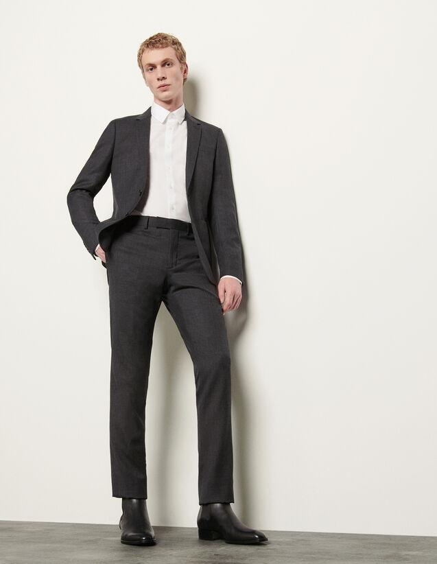 Pantalon de costume : Costumes & Smokings couleur Gris Chiné