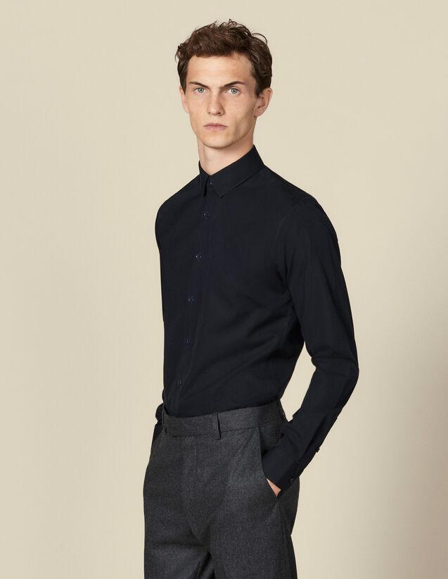 Chemise non iron : Chemises couleur Marine