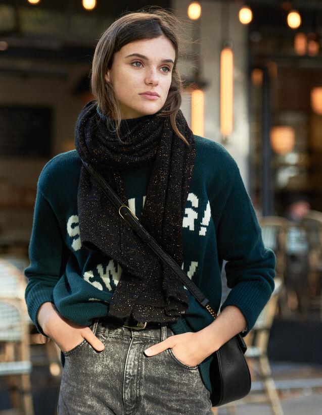 Echarpe en lurex : Foulards & Écharpes couleur Noir
