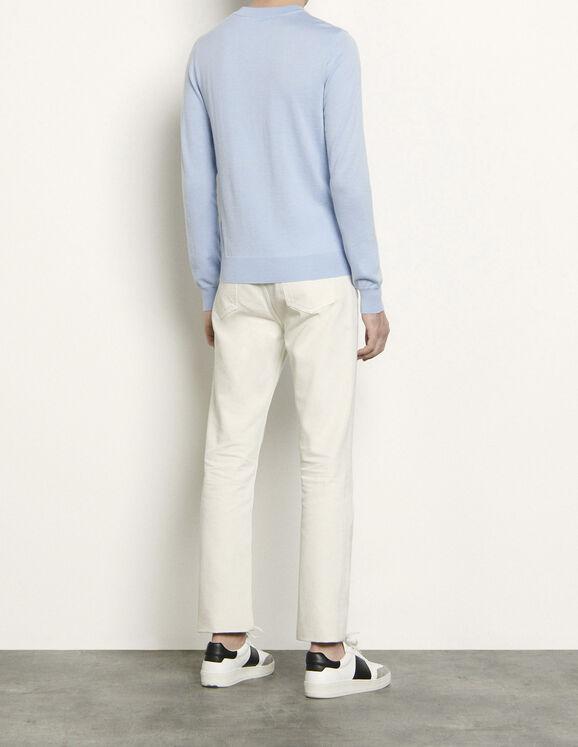 Pull fin en laine Casper : Pulls & Cardigans couleur Noir
