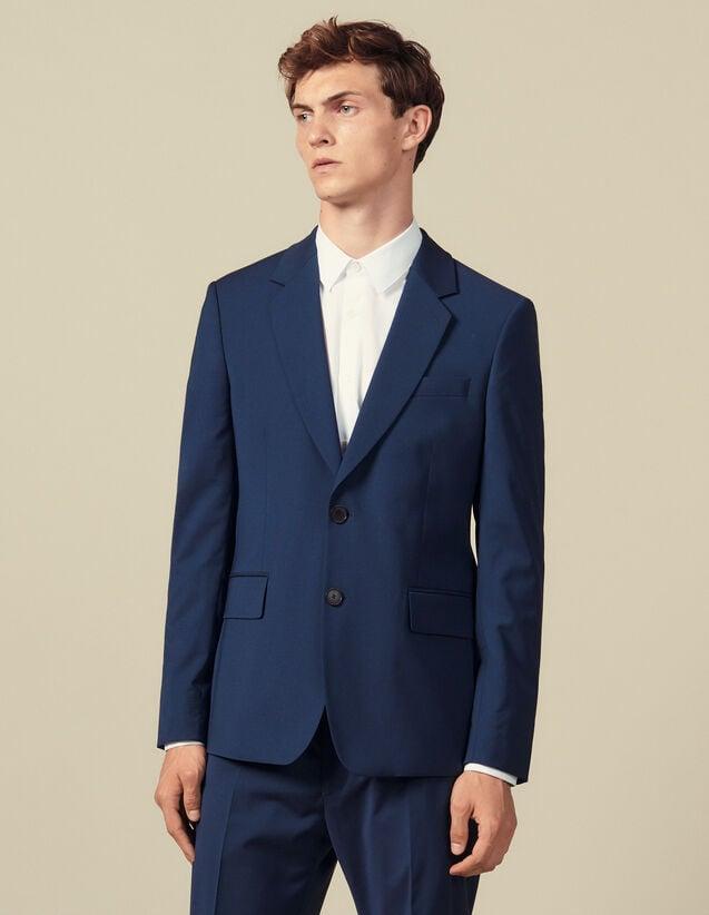 Veste de costume classique super 110 : Collection Hiver couleur Pétrole
