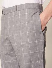 Pantalon De Costume Classique Super 120 : Costumes & Smokings couleur Gris Clair