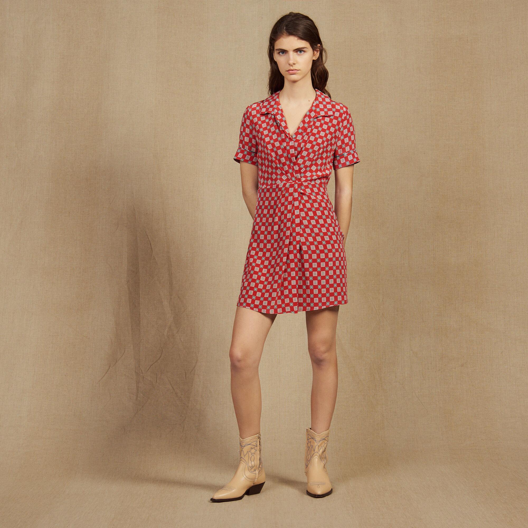 Petite robe rouge satin