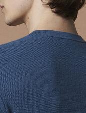 Pull Fin En Point Fantaisie : Pulls & Cardigans couleur Bleu Acier