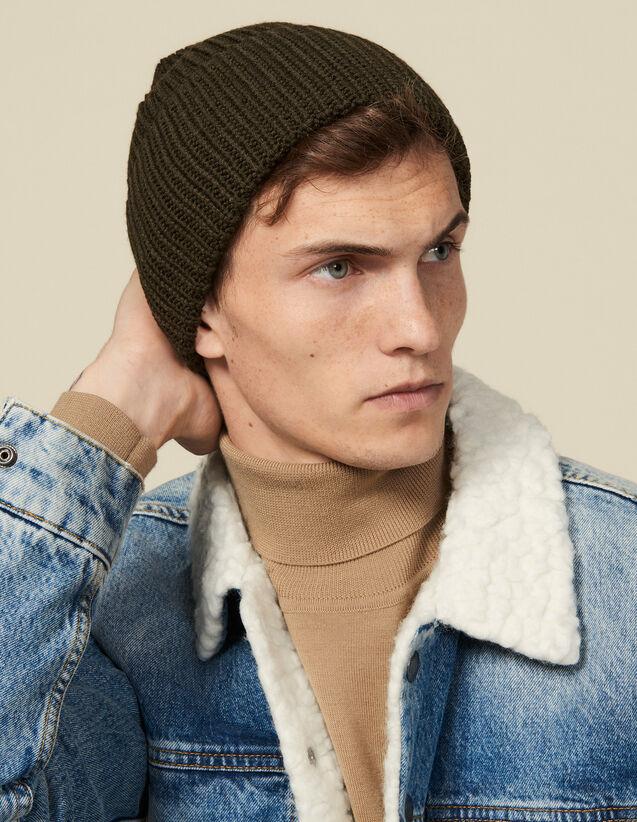 Bonnet à revers : Gants & Bonnets couleur Kaki